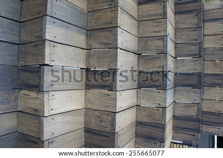 Vintage wood for background - stock photo