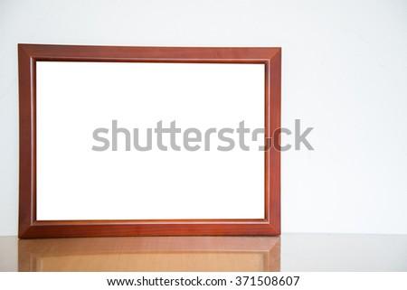 Vintage wood frame - stock photo
