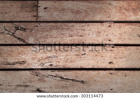 Vintage wood panel western cowboy saloon style from old warehouse plenty of room for copy natural day light shade version - stock photo