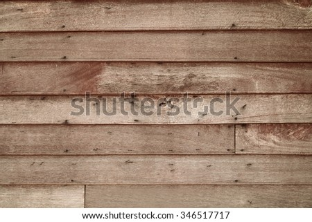 Vintage wood panel western cowboy saloon style from old warehouse plenty of room for copy natural shade day light - stock photo