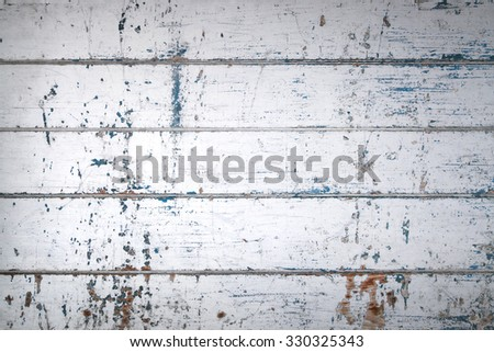 vintage wood plank from old door panel - stock photo