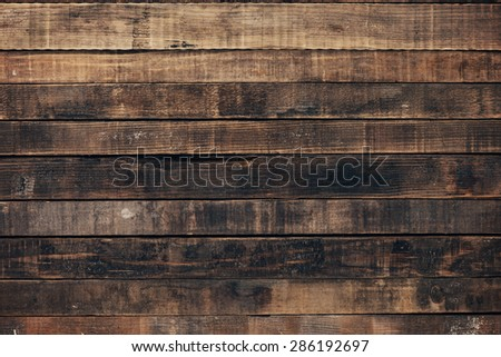 Vintage wood texture background, rough dry weathered planks - stock photo