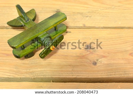 Vintage wooden aircraft - stock photo