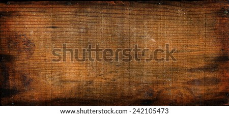 Vintage Wooden Boards, nicely aged and worn over time. - stock photo