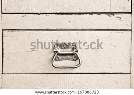 Vintage wooden  cabinet with drawer - stock photo
