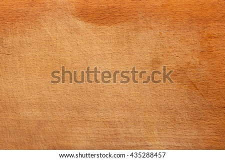 Vintage wooden cutting board with lots of scratches, texture background, copy space. Old grunge wooden cutting kitchen desk board background texture - stock photo