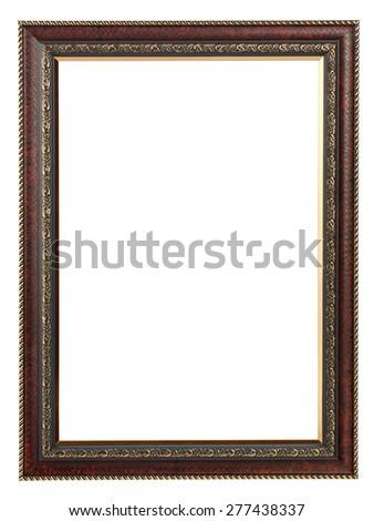 Vintage wooden frame - stock photo