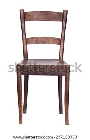 Vintage wooden kitchen chair stock photo