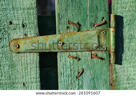 Vintage wooden texture background green close up, old fence - stock photo