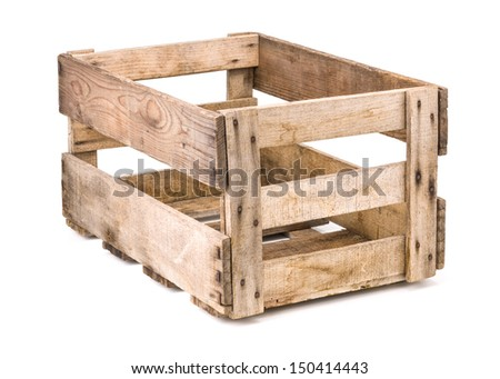 Vintage wooden wine crate stock photo for Empty wine crates