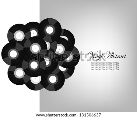 Vinyl abstract background.  Its a raster version. Vector search in my portfolio - stock photo