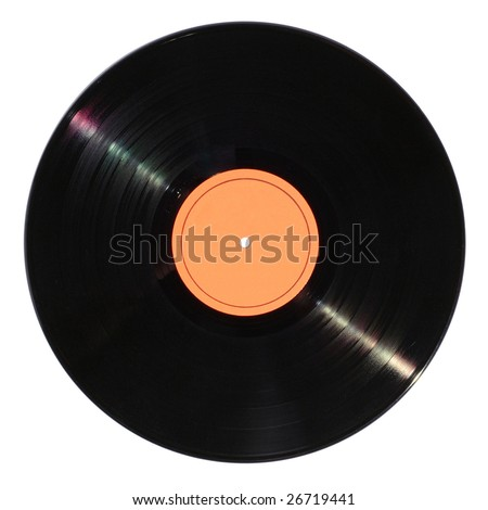 Vinyl disc - stock photo