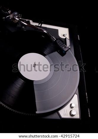 Vinyl Player - stock photo
