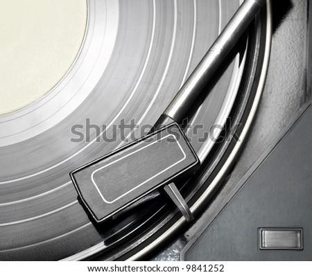 Vinyl player #1 - stock photo