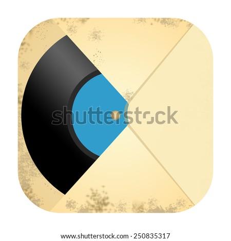 Vinyl record icon - stock photo