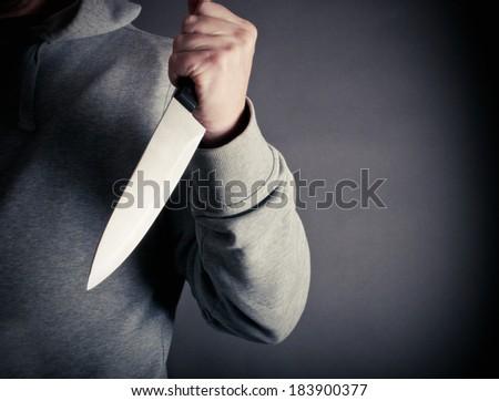 Violent knife crime - stock photo