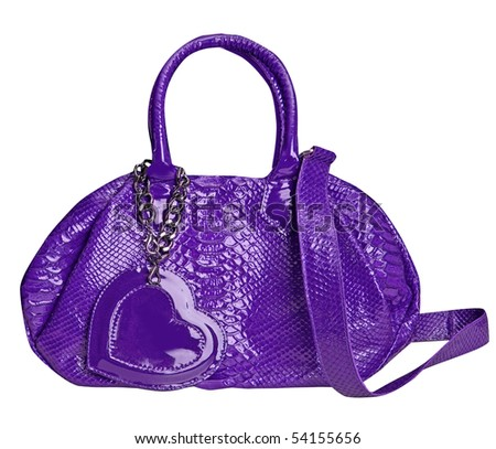 violet bag - stock photo