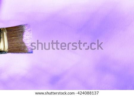 violet canvas background - stock photo