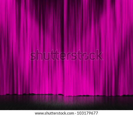 Violet Curtain Stage Background - stock photo