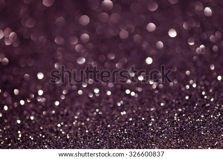 Violet Festive Christmas abstract bokeh background, shining lights, holiday sparkling atmosphere, celebration ambient - stock photo