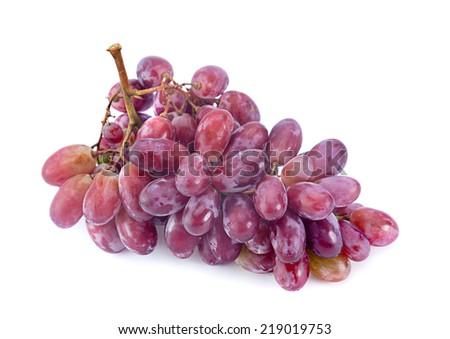 Violet grape fruit isolated on white - stock photo