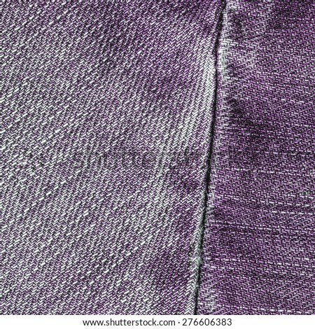violet jeans texture,seam - stock photo