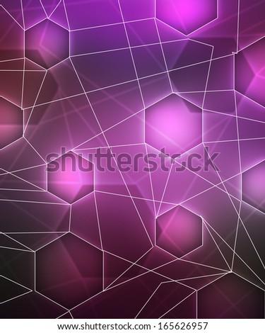Violet Network Image - stock photo