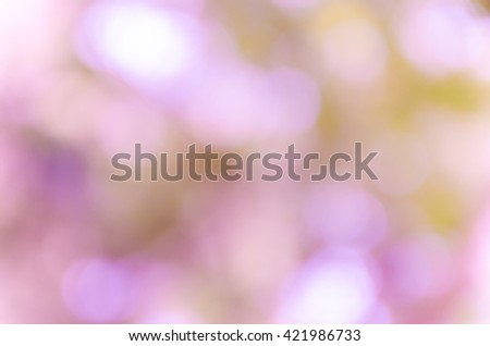 Violet purple bokeh out of focus background from nature forest - stock photo