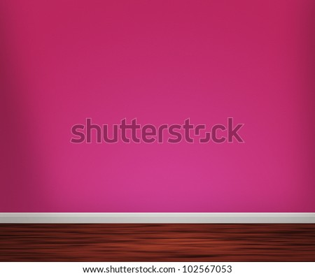 Violet Room with Wooden Floor Background - stock photo