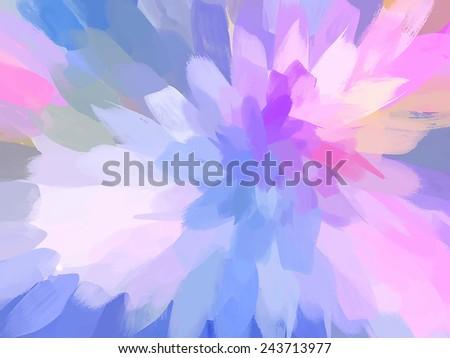 Violet soft flower - stock photo