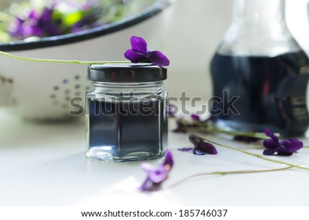 violet syrup - stock photo