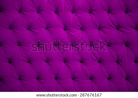 Violet velvet button wall texture - stock photo