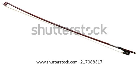 Violin bow isolated on white background - stock photo