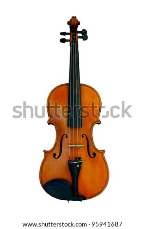 violin isolated - stock photo