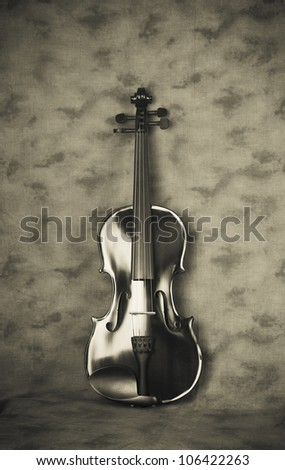Violin Scene 3 - stock photo