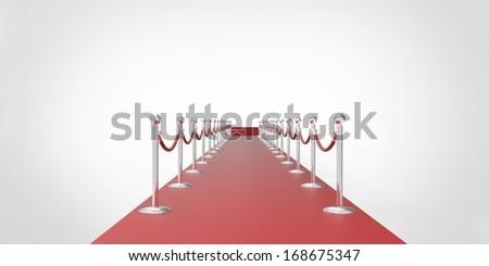 VIP. Red carpet - stock photo