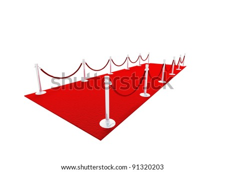 VIP red carpet 3D model - stock photo