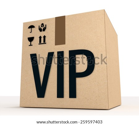 VIP special package concept side view. - stock photo