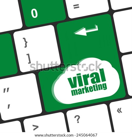 viral marketing word on computer keyboard key - stock photo