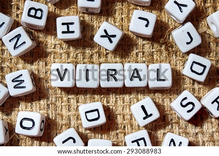 VIRAL word on white blocks concept - stock photo