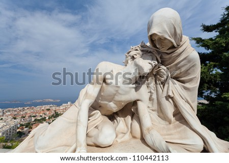 Virgin and son Marseilles France - stock photo