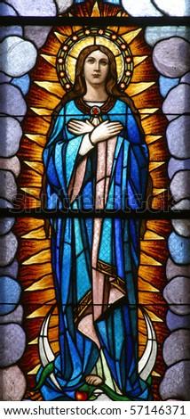 Virgin Mary - stock photo
