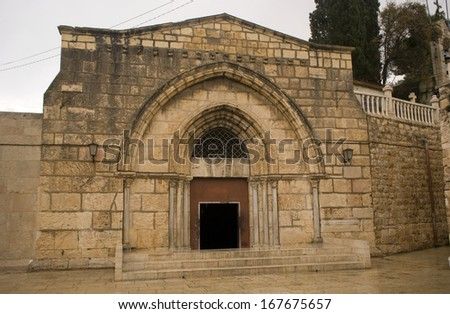 Virgin Mary's tomb, Jerusalem, Israel - stock photo