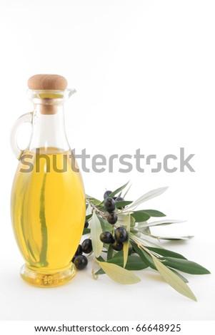 Virgin olive oil - stock photo