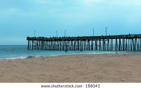 Virginia Beach Pier - stock photo
