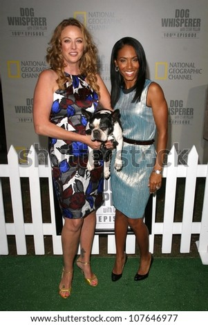 Virginia Madsen and Jada Pinkett Smith  at the party to celebrate the 100th Episode of 'Dog Whisperer'. Boulevard 3, Hollywood, CA. 09-17-08 - stock photo