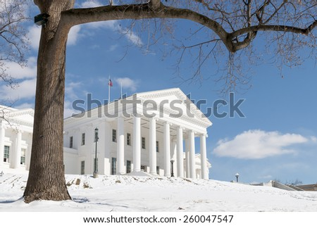 Virginia State Capitol - Richmond in the Winter - stock photo