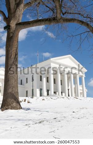 Virginia State Capitol - Richmond - Winter - stock photo