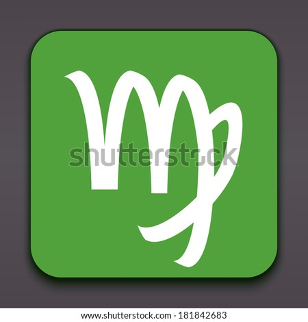 Virgo. Horoscope signs/symbols. Other signs are represented in the my portfolio. - stock photo