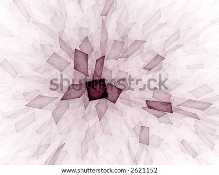 virtual glass shards or post-its - stock photo